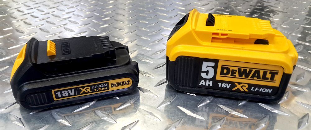 Different batteries to fit the same tool