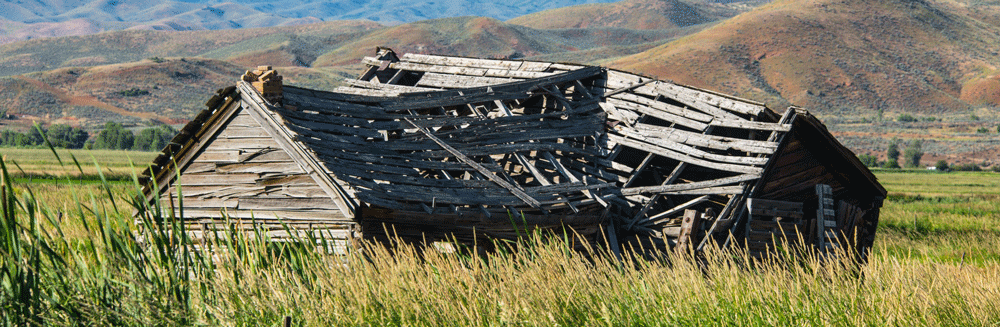 Old wooden structure are ideal places to source wood for re-purposing