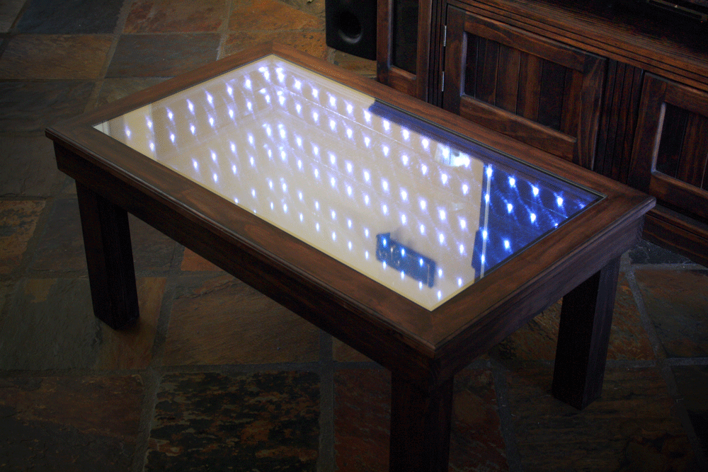 Infinity Mirror Coffee Table High School Student Builds A Mind Boggling Infinity Mirror Coffee
