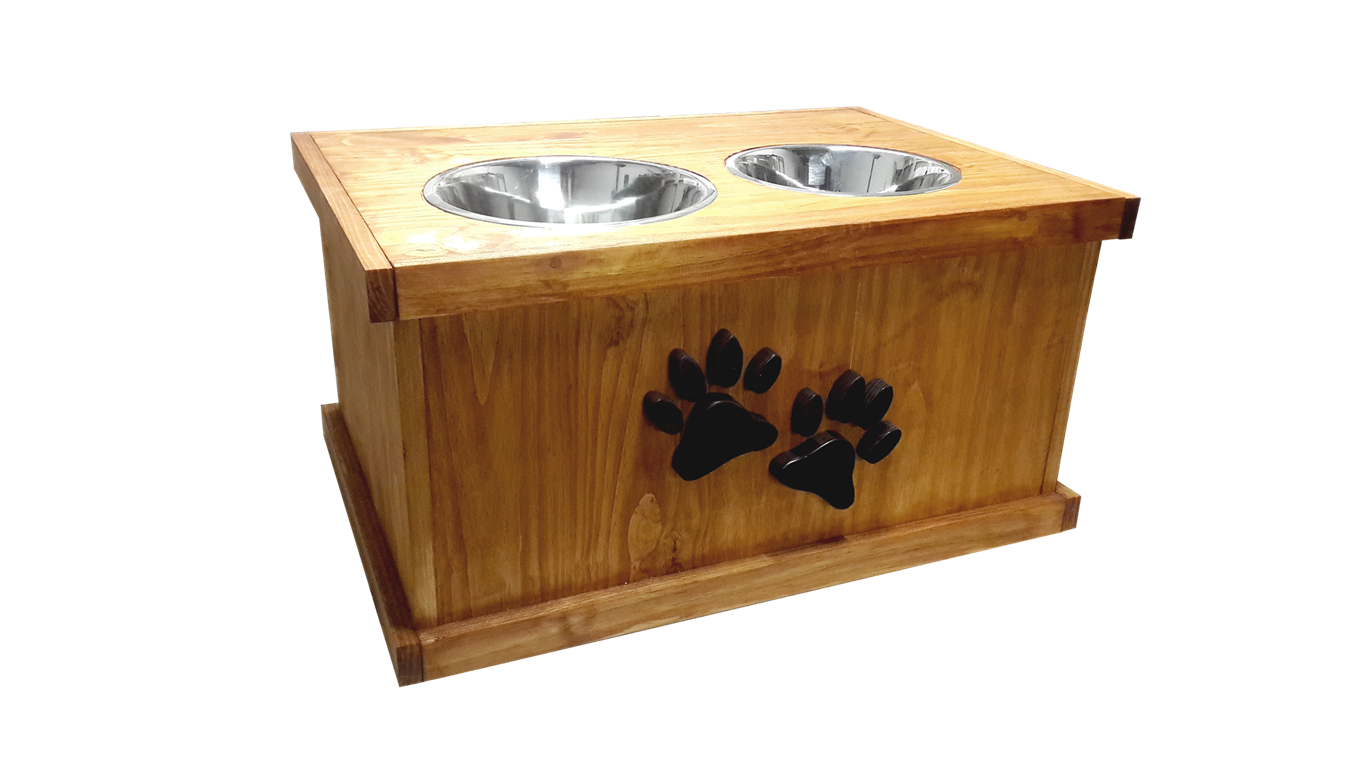 Giant breed dog feeder