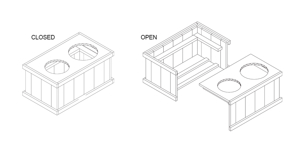 DIY Dog Feeding Station Built For Large Breeds (Drawer For Food Storage)