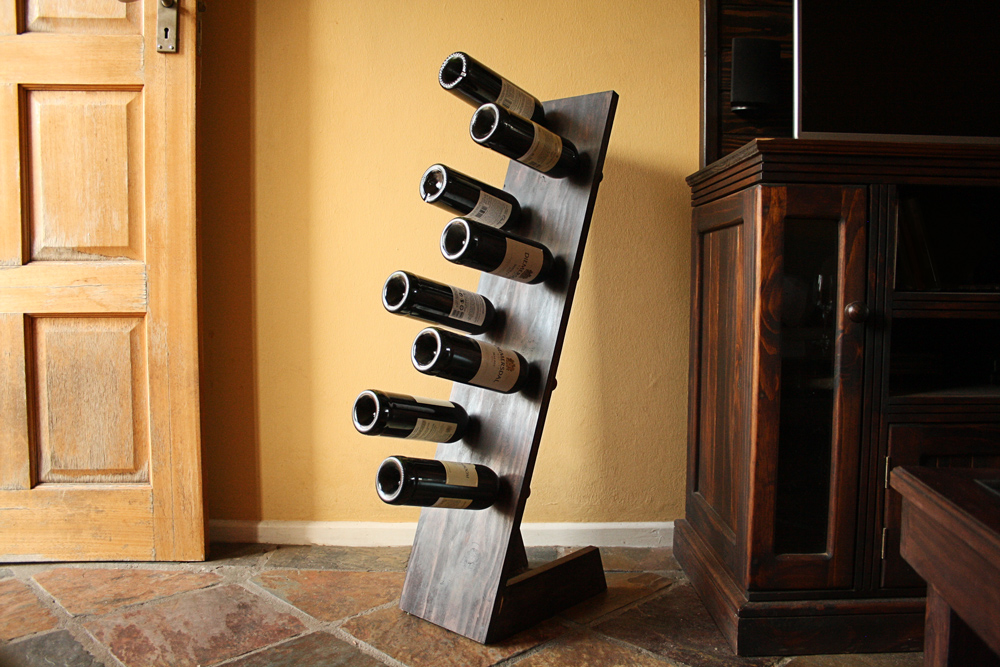 Freestanding wine rack DIY u2013 Build tutorial and plans & How To Make A Super Easy DIY Freestanding Wine Rack | Woodwork Junkie