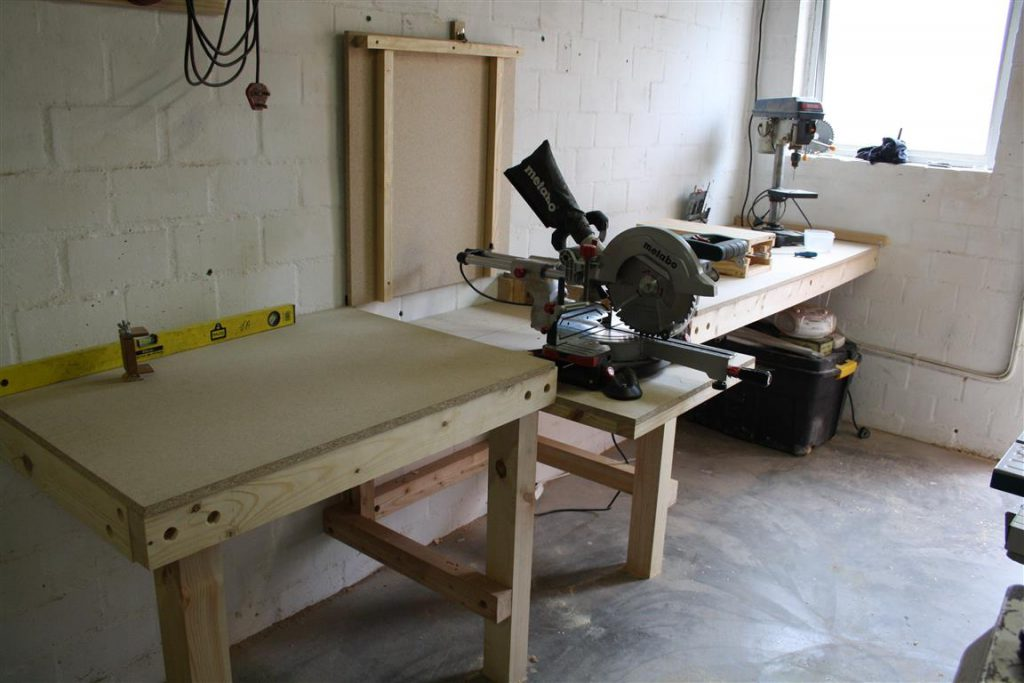 DIY Folding Miter Saw Stand | Make The Most Of A Small Shop | Woodwork Junkie