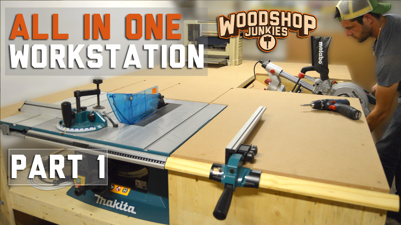 Building an All-IN-ONE woodworking workstation – PART 1- Plans With