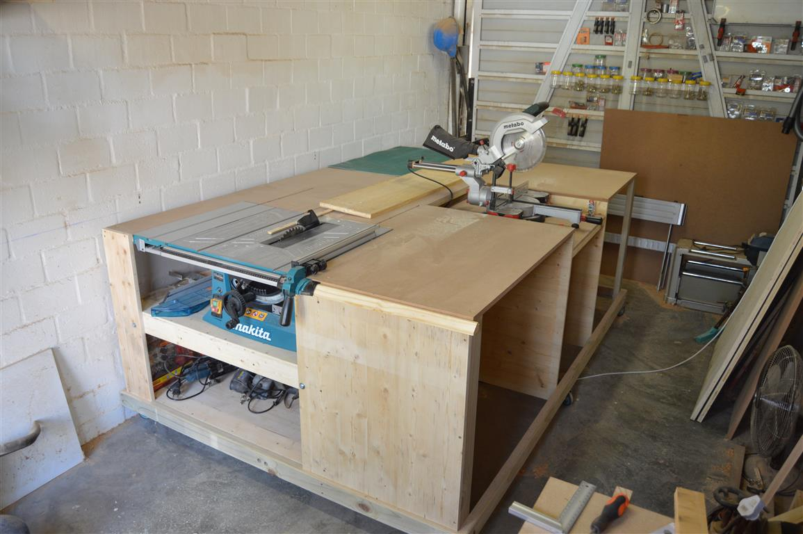 workbench with power tool storage all in one woodworking