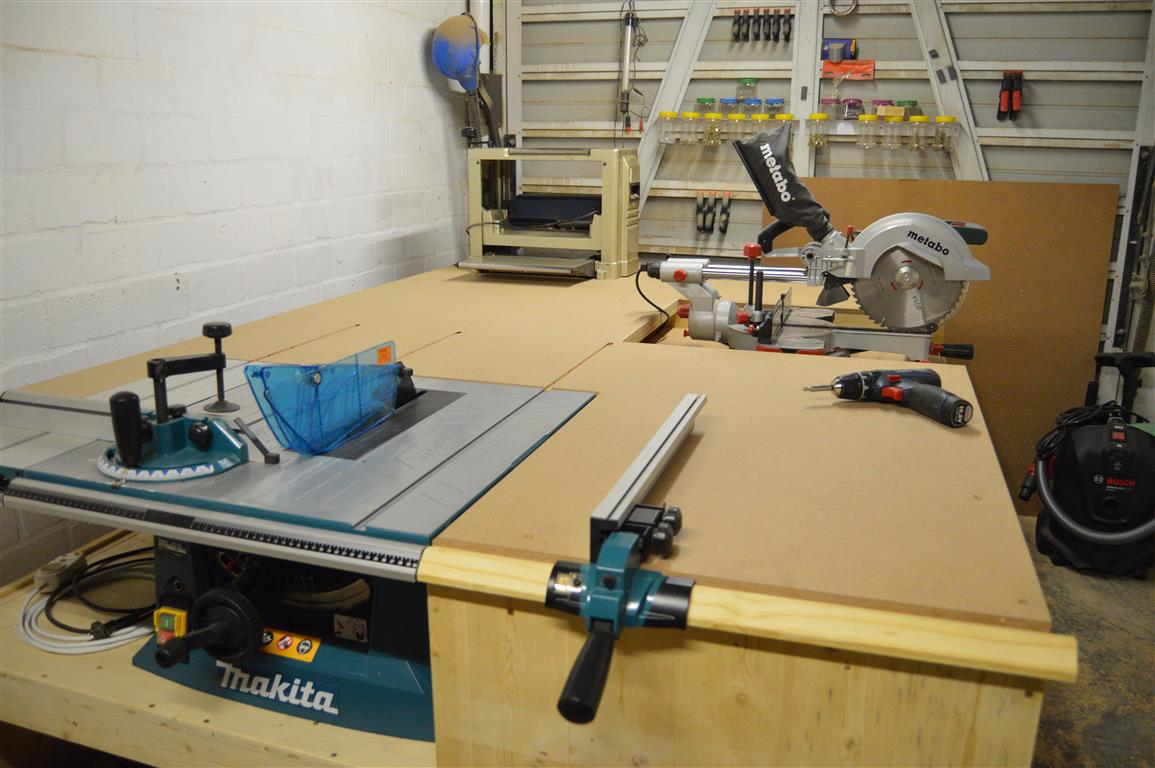 Miter Saw Installed To Table Saw Outfeed Table | All In One Workbench PART  3 Was Last Modified: May 29th, 2019 By Jean