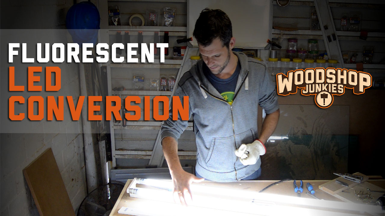 Fluorescent To Led Light Fixture Conversion 2 Steps With